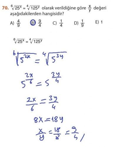 9. Sınıf Meb Matematik Sayfa 184-194 Cevapları 70