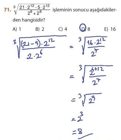 9. Sınıf Meb Matematik Sayfa 184-194 Cevapları 71
