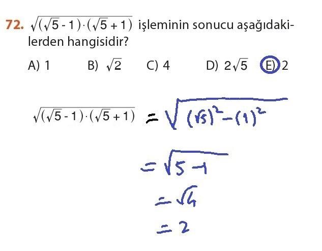 9. Sınıf Meb Matematik Sayfa 184-194 Cevapları 72