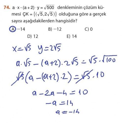 9. Sınıf Meb Matematik Sayfa 184-194 Cevapları 74