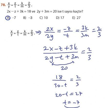 9. Sınıf Meb Matematik Sayfa 184-194 Cevapları 78