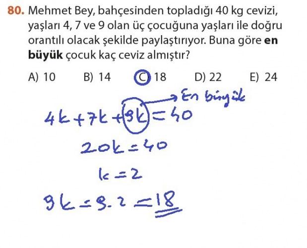 9. Sınıf Meb Matematik Sayfa 184-194 Cevapları 80