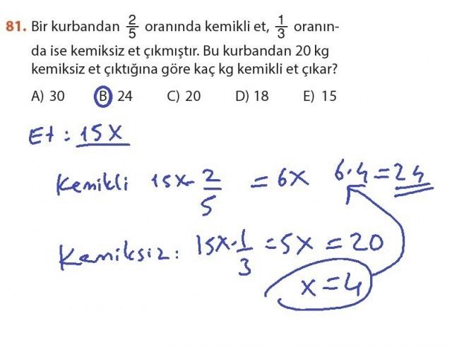 9. Sınıf Meb Matematik Sayfa 184-194 Cevapları 81
