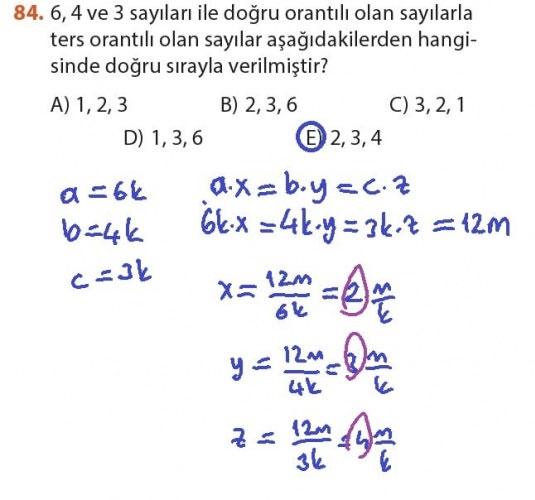 9. Sınıf Meb Matematik Sayfa 184-194 Cevapları 84