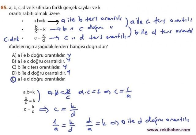 9. Sınıf Meb Matematik Sayfa 184-194 Cevapları 85