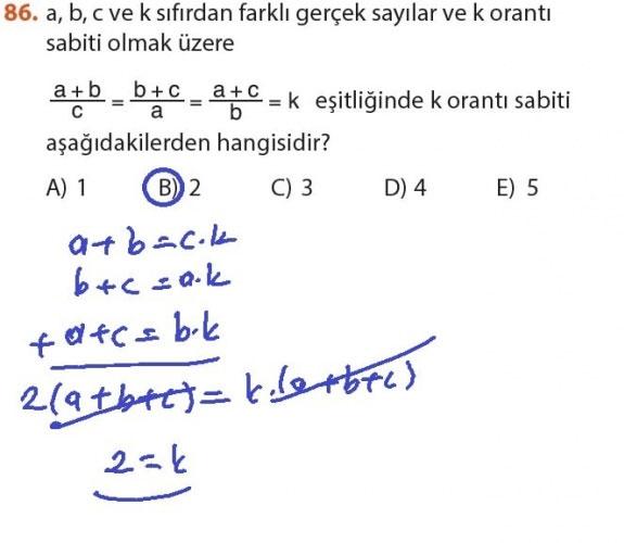 9. Sınıf Meb Matematik Sayfa 184-194 Cevapları 86