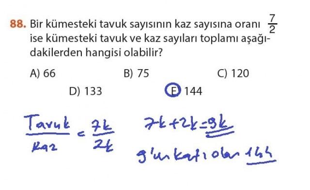 9. Sınıf Meb Matematik Sayfa 184-194 Cevapları 88