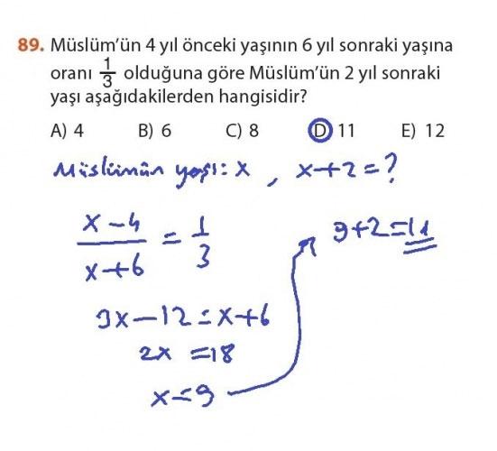 9. Sınıf Meb Matematik Sayfa 184-194 Cevapları 89