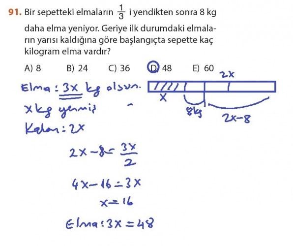 9. Sınıf Meb Matematik Sayfa 184-194 Cevapları 91