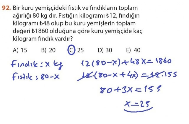 9. Sınıf Meb Matematik Sayfa 184-194 Cevapları 92