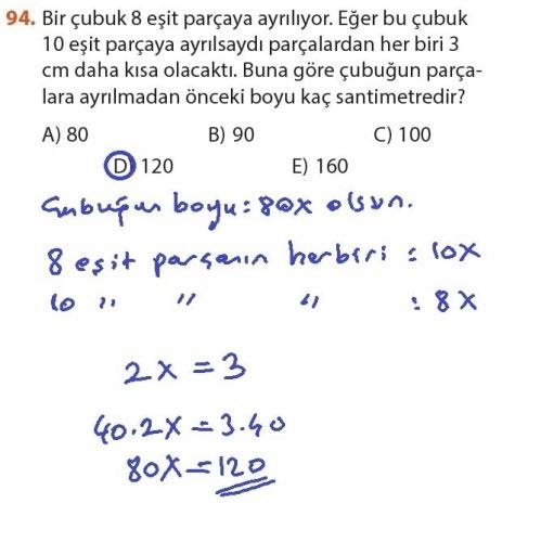 9. Sınıf Meb Matematik Sayfa 184-194 Cevapları 94