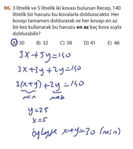 9. Sınıf Meb Matematik Sayfa 184-194 Cevapları 96
