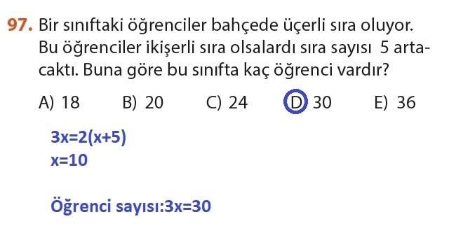 9. Sınıf Meb Matematik Sayfa 184-194 Cevapları 97