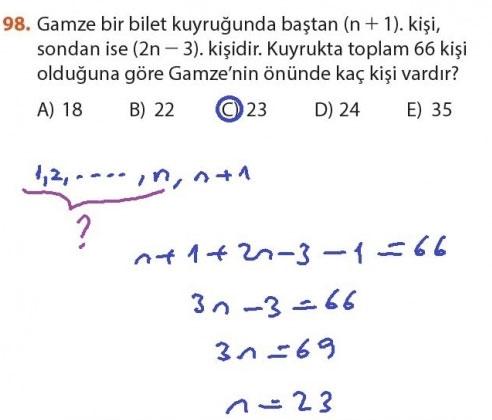 9. Sınıf Meb Matematik Sayfa 184-194 Cevapları 98