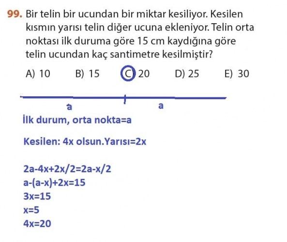 9. Sınıf Meb Matematik Sayfa 184-194 Cevapları 99