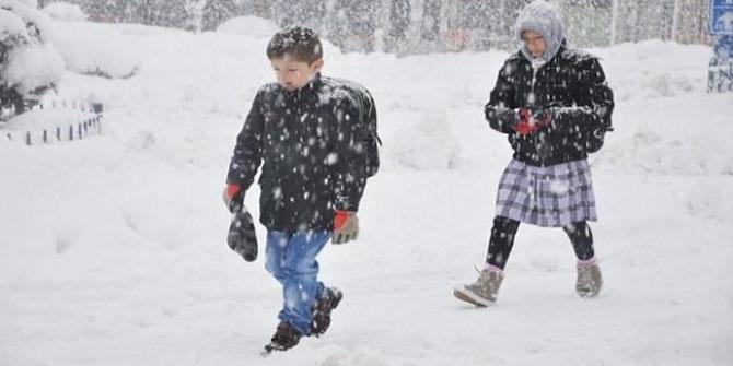 17 Ocak Perşembe kar tatili olan iller ve ilçeler