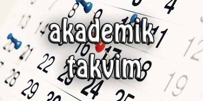 Şırnak Üniversitesi Akademik Takvimi