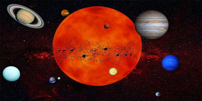 Güneş ve Ay tutulmalarının nasıl gerçekleşir