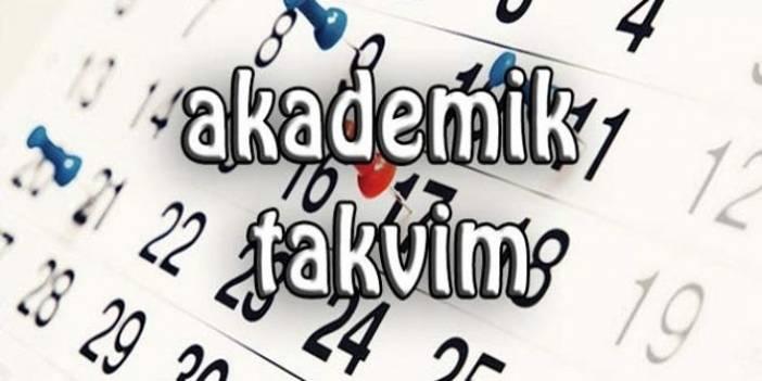 Samsun Üniversitesi Akademik Takvimi